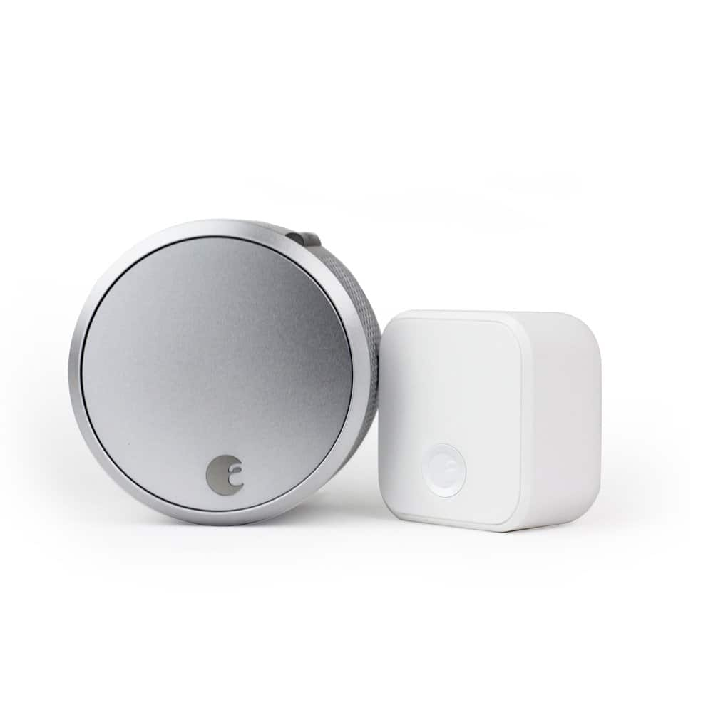 August Smart Lock Pro (Silver) 3rd Gen+ Connect + FREE Installation + 20% coupon code- Amazon - $173.98 + tax