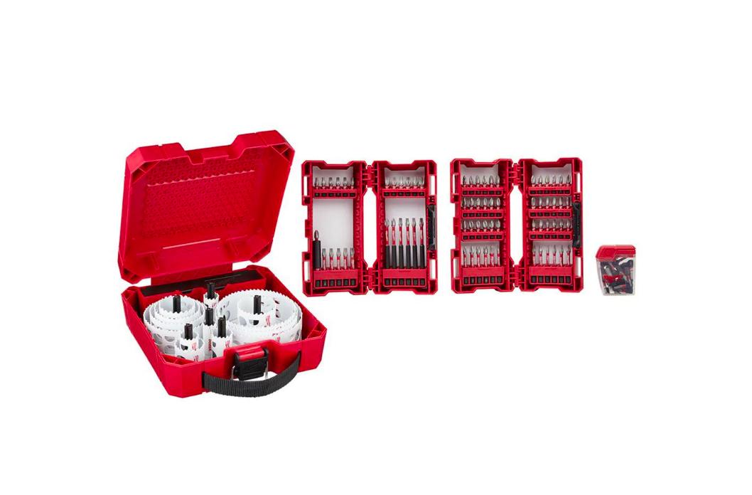 Milwaukee Hole Saw Kit - 21pc and Shockwave Driver Set - 99pc -  $99