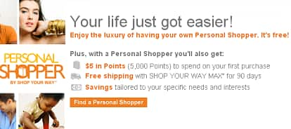 Free 5,000 SYWR points ($5) for joining Personal Shopper program