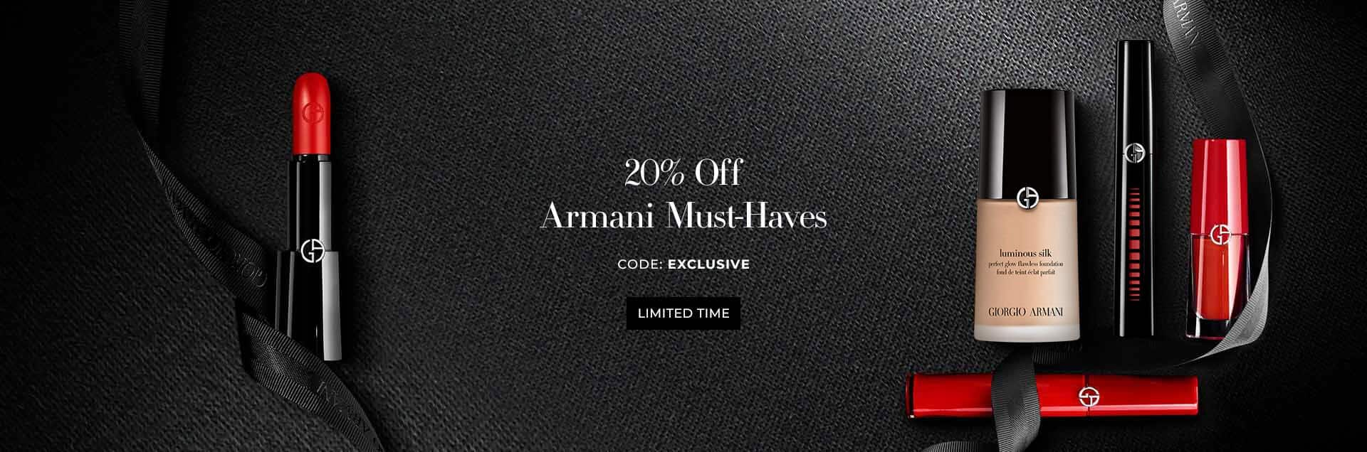 20% off on Armani Prive fragrances for the first time ever