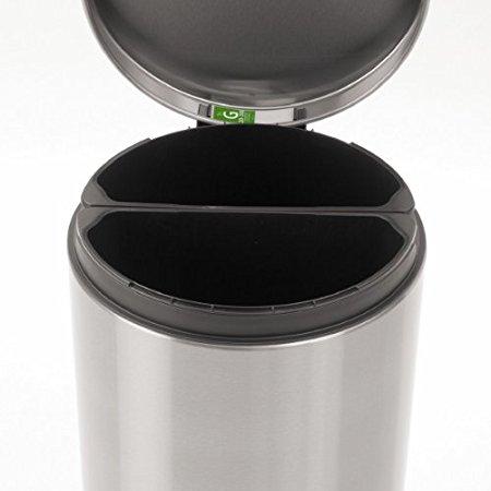 DEAD Brabantia Pedal Trash/Recycle Bin, Silent Close with 2 x 20l Inner Buckets– Fingerprint Proof Matte Steel $27.46