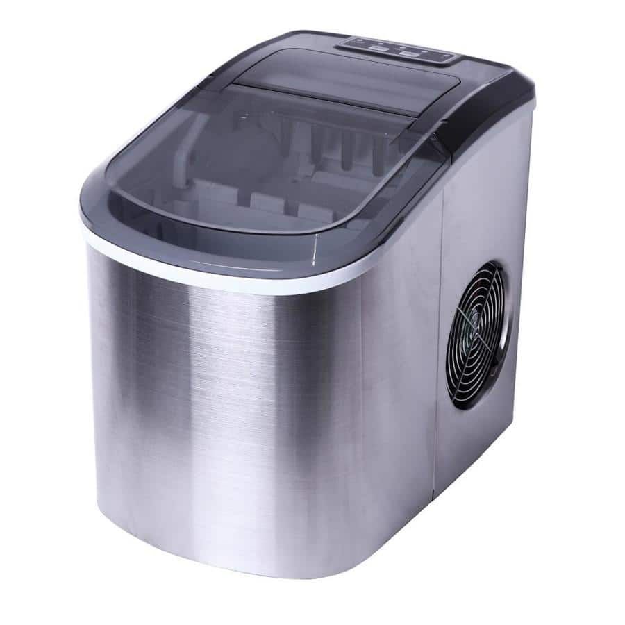 Ice Maker 26lb Flip-Up Freestanding Portable Countertop in Stainless Steel at Lowe's $80.93 + Tax for Pickup