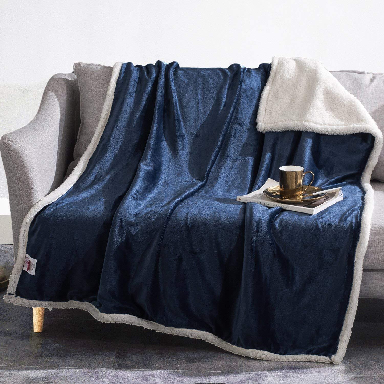 Sherpa Throw Blanket 50x60 Fleece Warm Super Soft Blanket