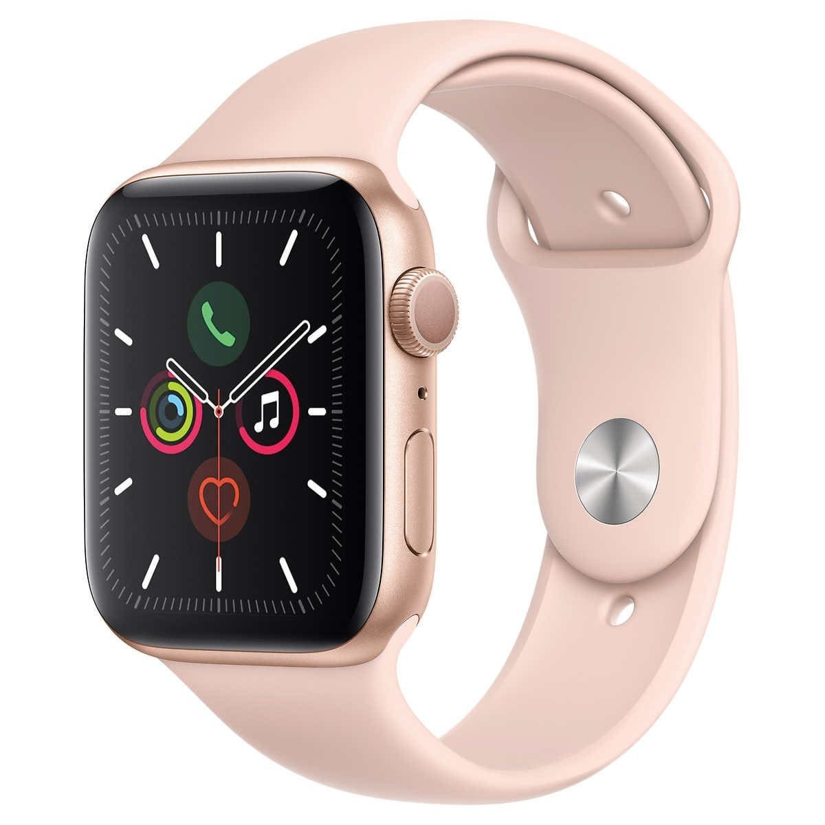 Apple Watch Series 5 GPS with Pink Sport Band - 44mm - Gold $384.99