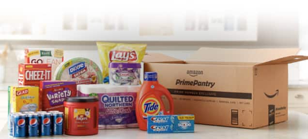 Amazon free $5 prime pantry credit for no-rush shipping to Prime members
