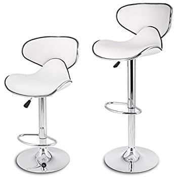 LANGRIA White Bar Stools two for 54 $53.99