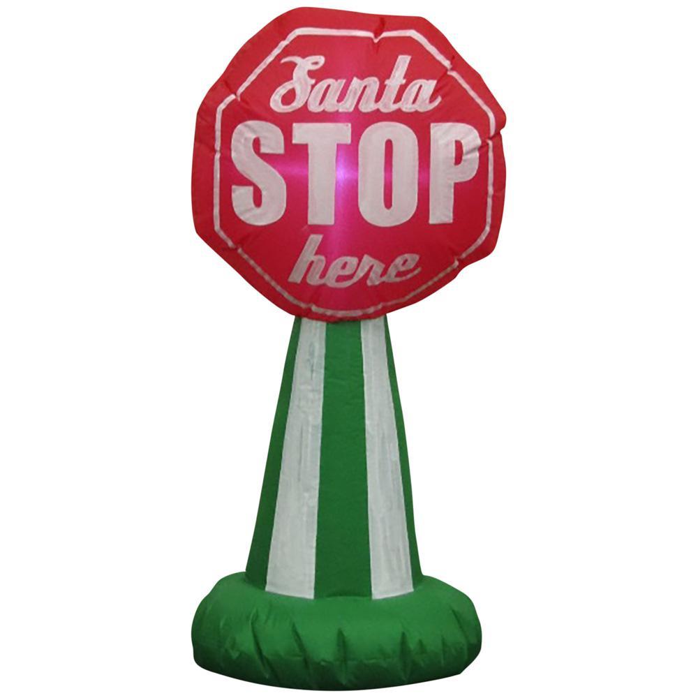 Santa Stop Sign Inflatable - Home Depot  $9.99  Shipped or Pickup