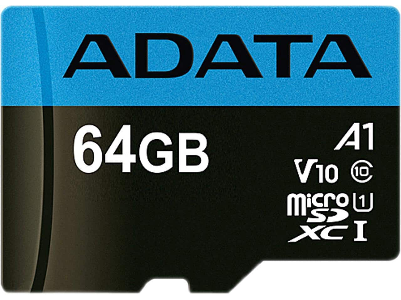 ADATA 64GB Premier microSDXC UHS-I / Class 10 V10 A1 Memory Card with SD Adapter, Speed Up to 100MB/s with Free Shipping $8.99