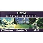Hoya 58mm Digital Filter Kit With UV, Circular Polarizer, NDX8 $34.95 shipped from Buydig