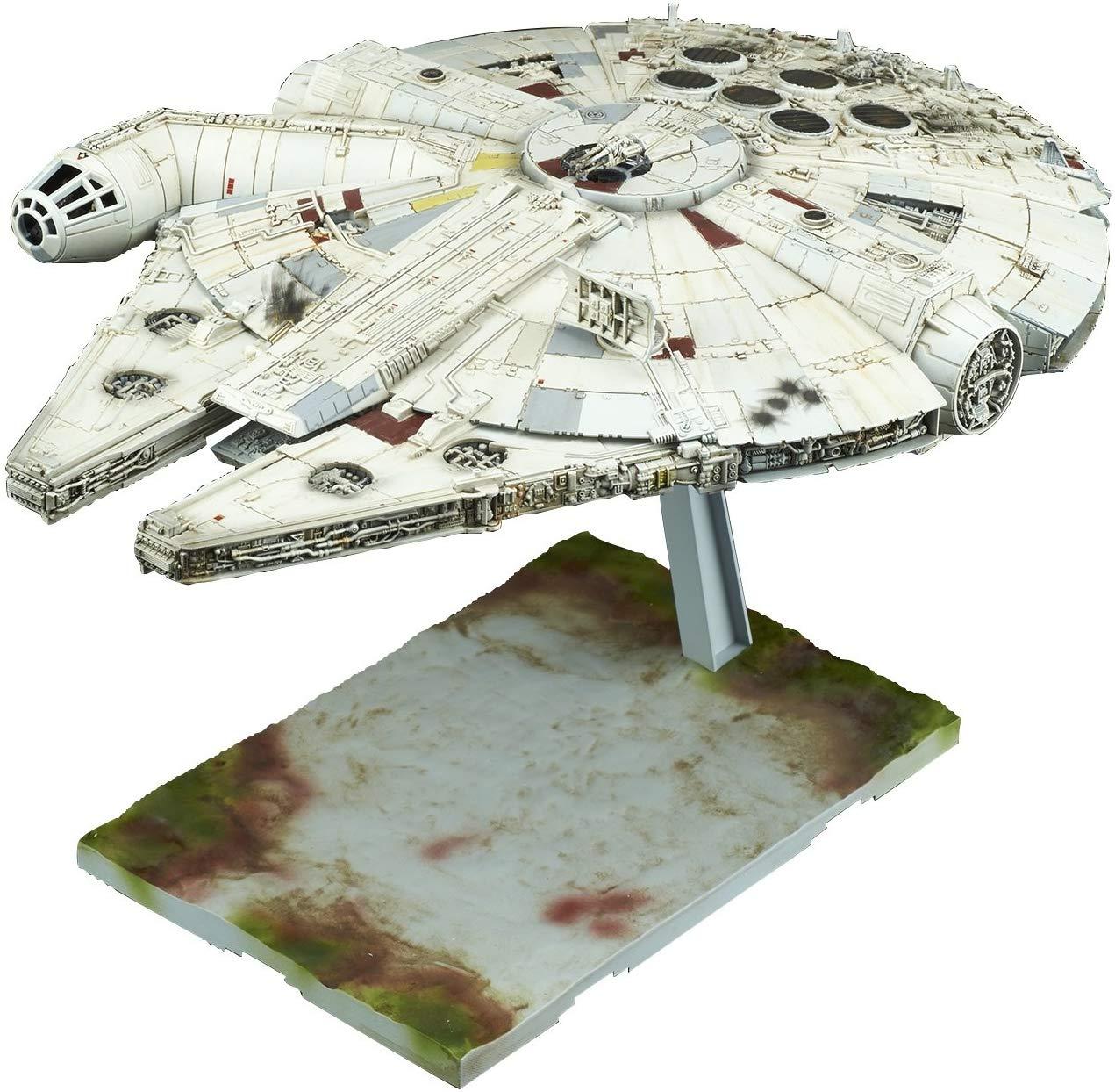 Bandai Hobby 1/144 Millennium Falcon Star Wars: The Last Jedi Model $24 @ Amazon