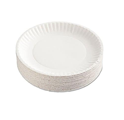 """White Paper Plates 9"""" 12 Packs of 100 $16.99 F/S with Prime"""