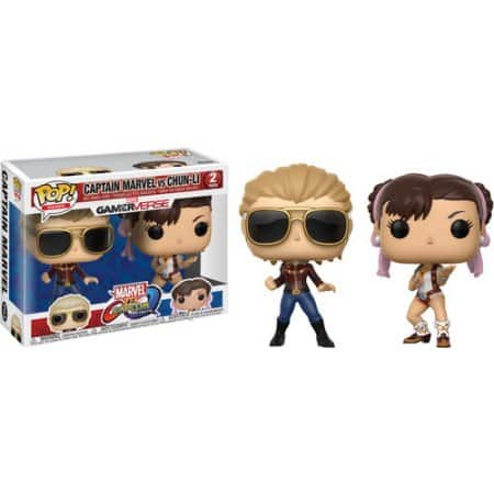 Funko POP! Collectable Figures: Captain Marvel/Chun Li (2-pack) $5.26 + Free store pick up or Free 2-day shipping on orders over $35