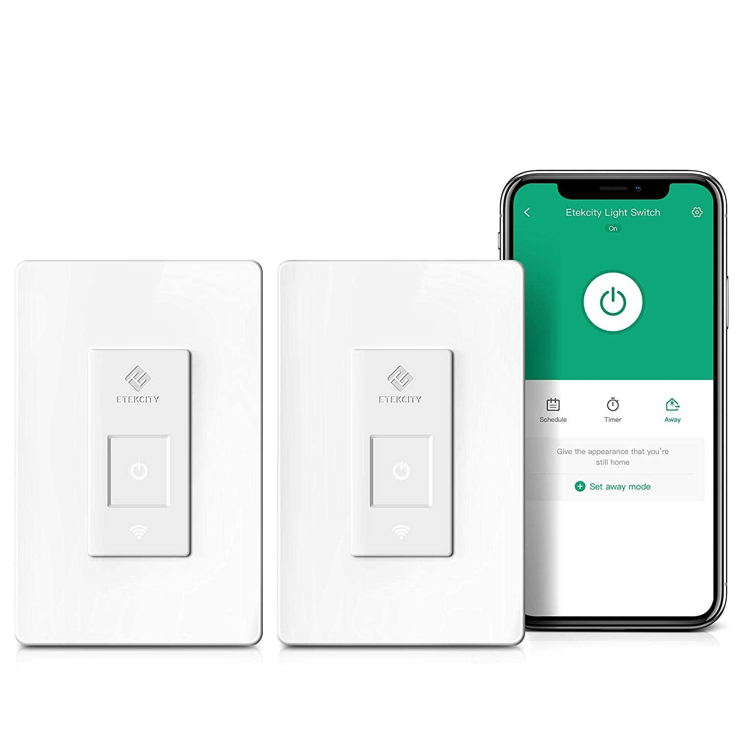 2-Pack Etekcity Smart WiFi Remote Control No Hub Required Light Switch with Timer (Works with Alexa & Google Home) +Free Shipping $25.98
