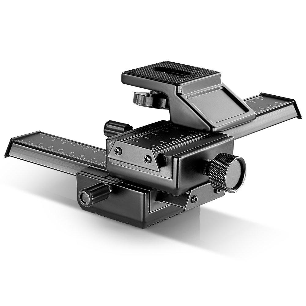 Neewer Pro 4-Way Macro Focusing Focus Rail Slider - $20.99 + Free Shipping (Future Date 3/18/19)