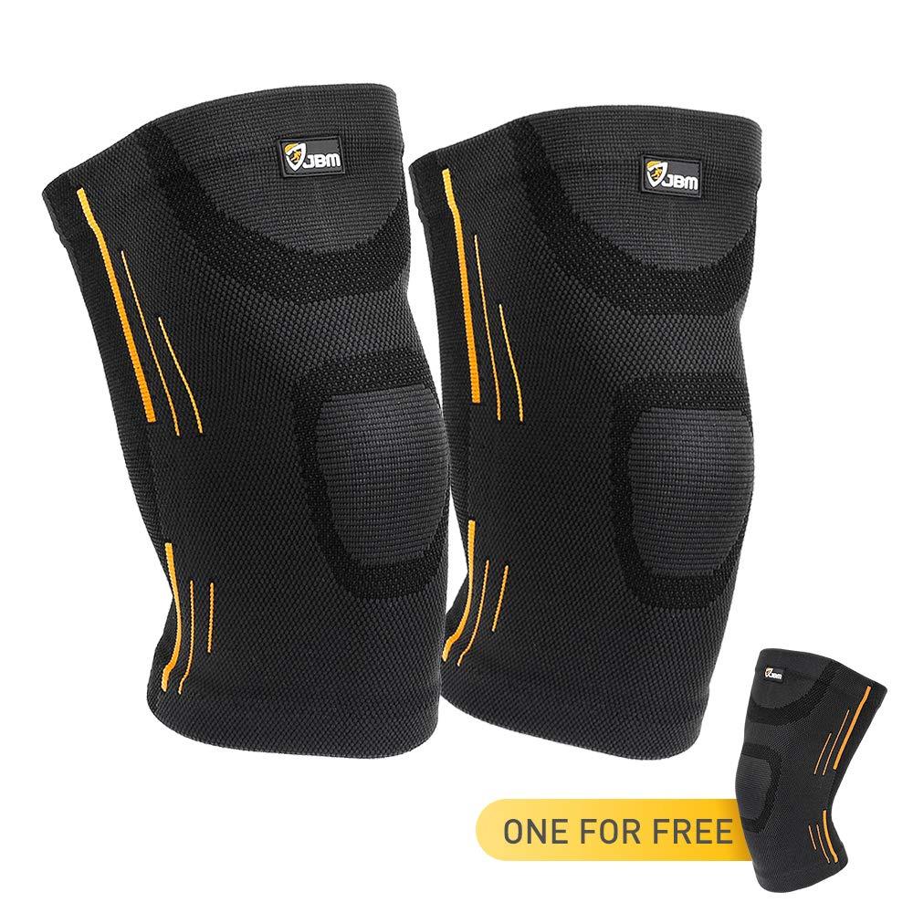 JBM 3 Pieces Knee Braces Support Compression Sleeve $6.95 + FS Prime