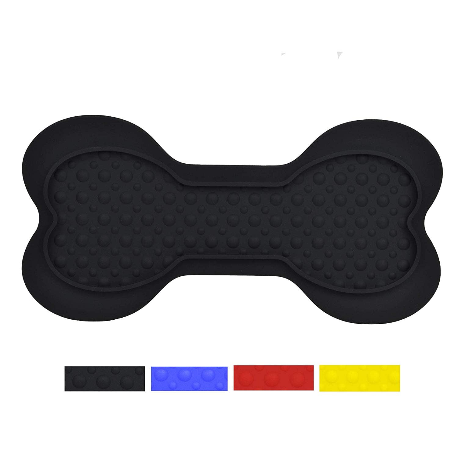 Silicone Dog Lick Bone Bowl (1 Pack, Black) $5.99
