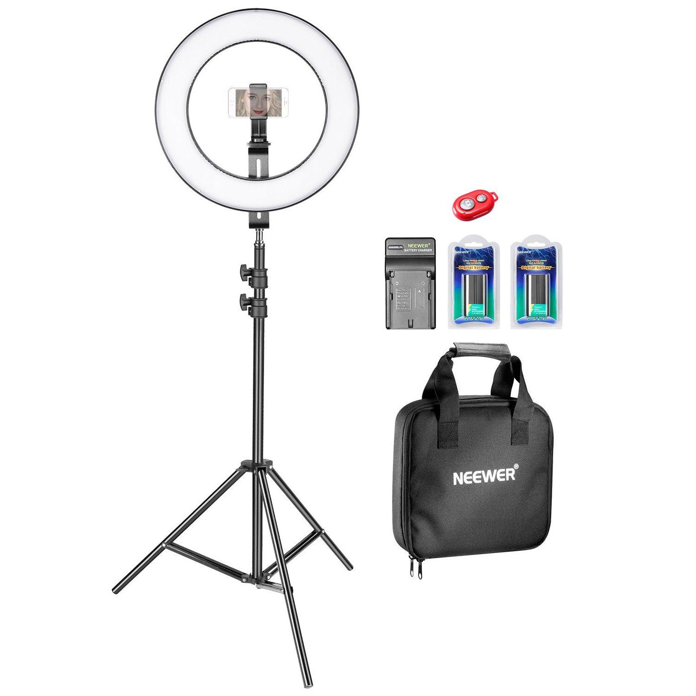 """Neewer 14"""" LED Ring Light Kit w/ Battery Set - $79.99 + FS"""