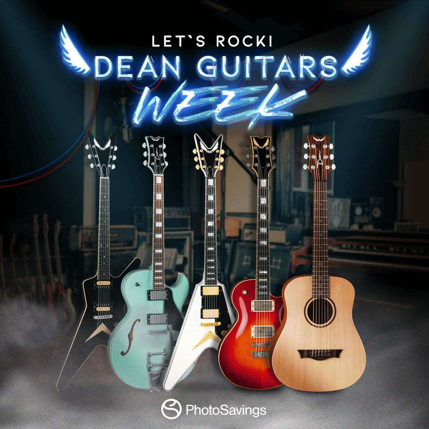 Dean Guitar Week: 15% Off on ALL Dean Brand Guitars, Ukes, & Banjos