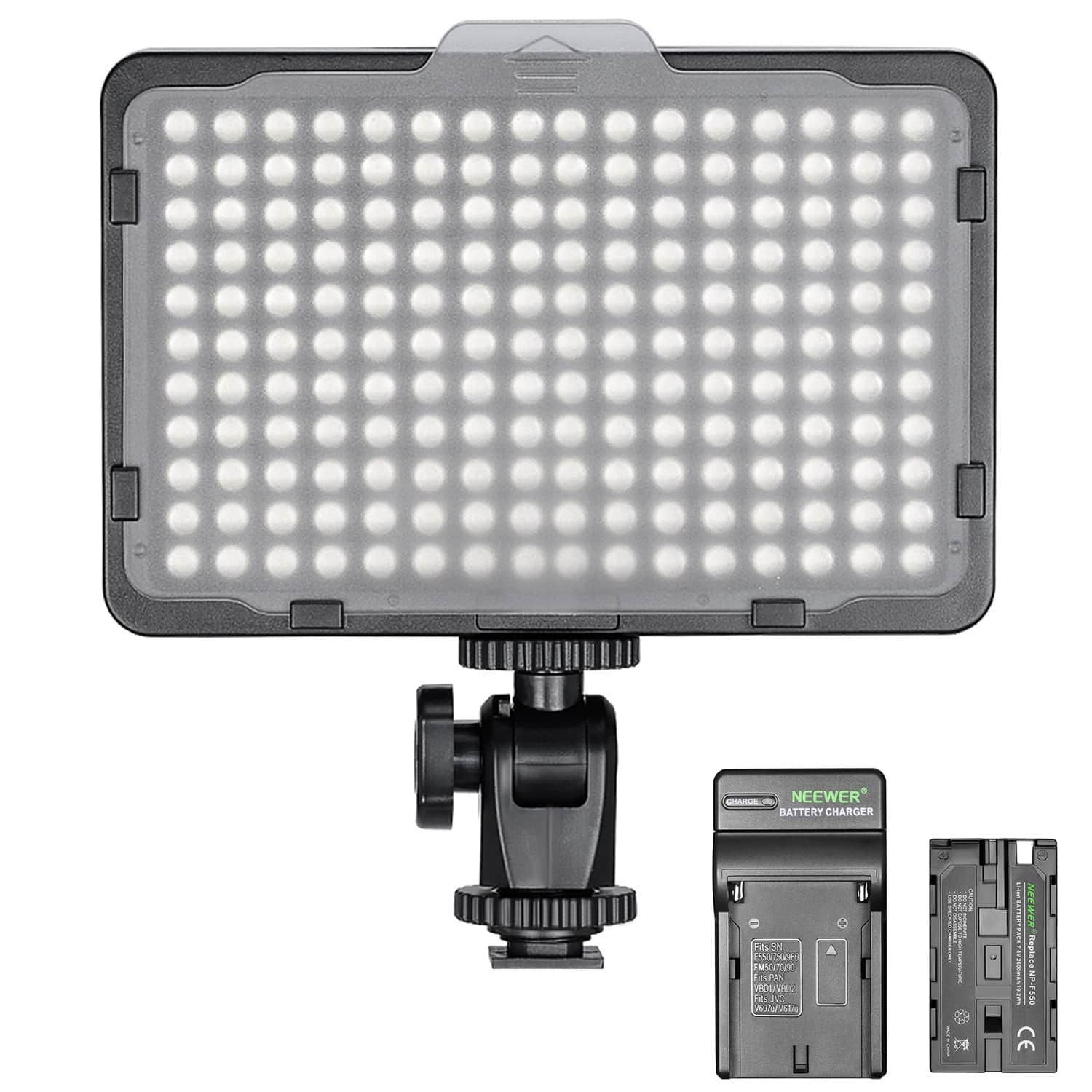 Neewer 176 LED Dimmable Video Light (2600mAh Battery & Charger Included) - $26.24 + Free Shipping