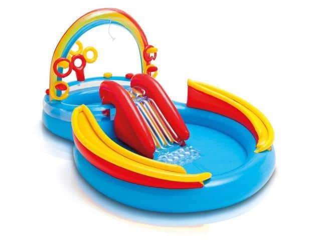 Intex Inflatable Pool Water Play Rainbow Ring Center Slide - $39.99 Free Shipping
