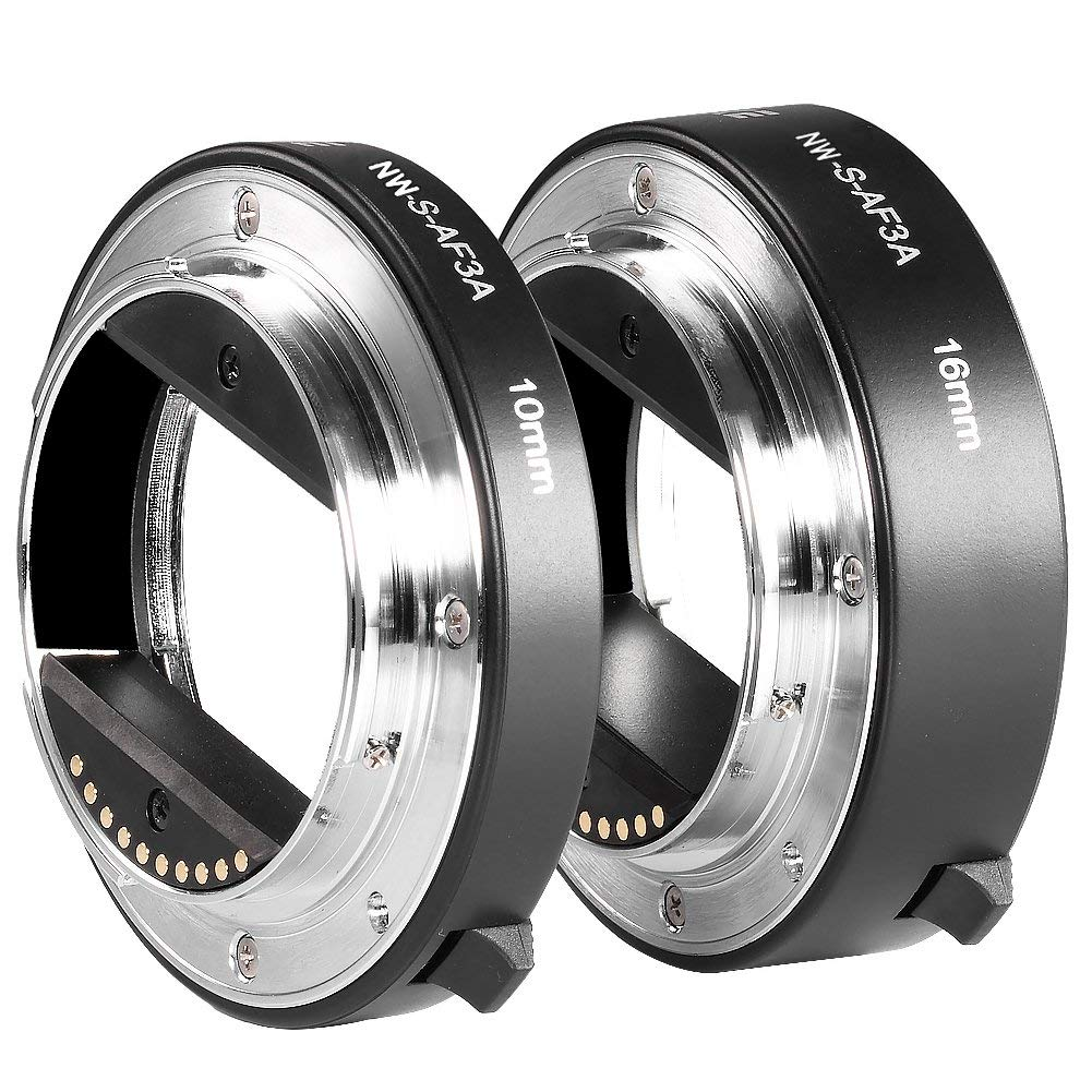 Neewer Metal Auto-Focus Macro Extension Tube Set for Sony (10mm&16mm) - $26.99 + Free Shipping