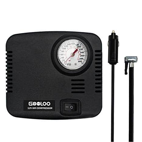 GOOLOO DC 12V Portable Air Compressor $8