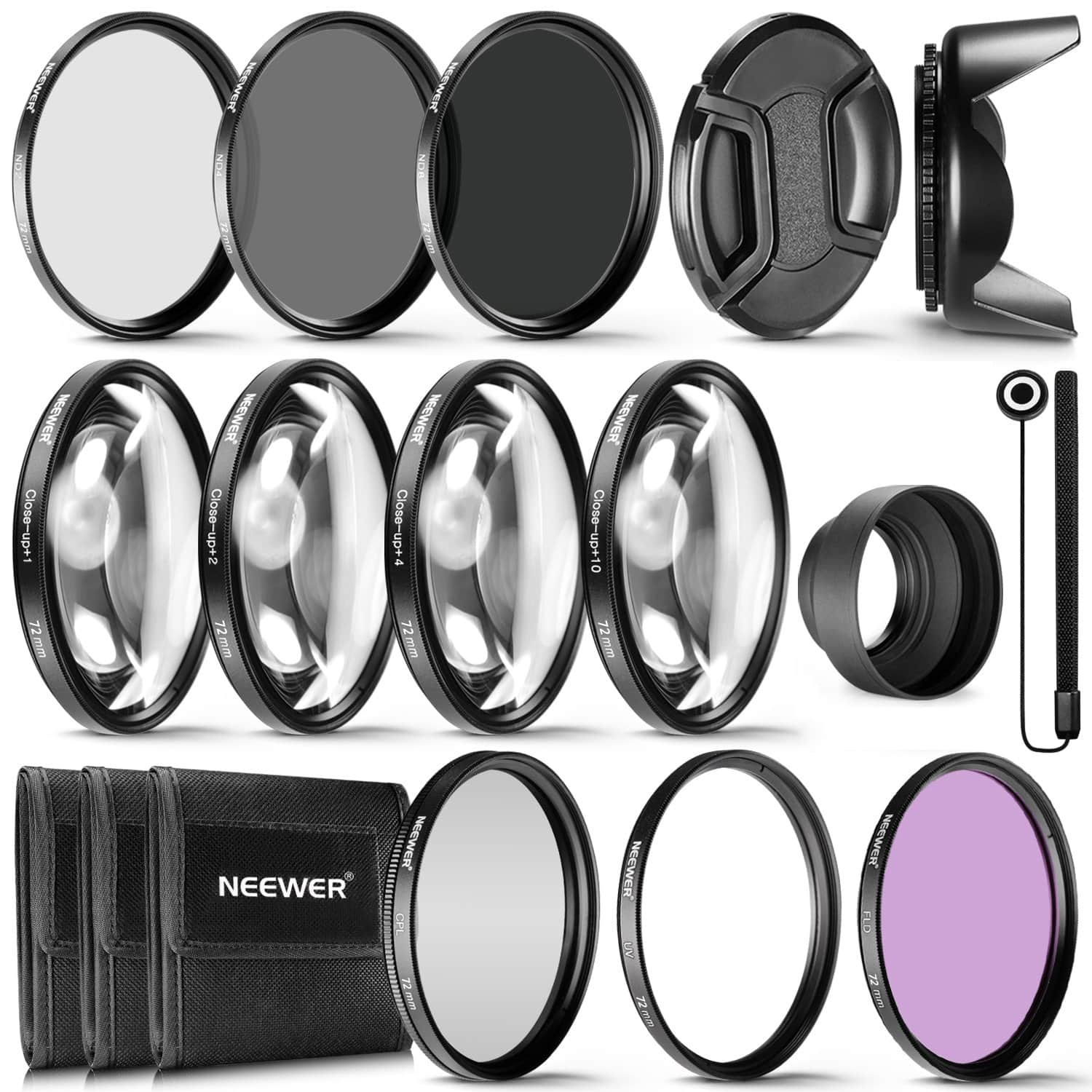 Neewer 72MM Complete Lens Filter Accessory Kit - $22.05 + Free Shipping
