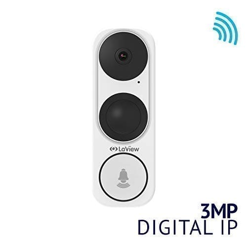 LaView ONE Halo HD 3MP 2K Wi-Fi Doorbell Camera, Two-Way