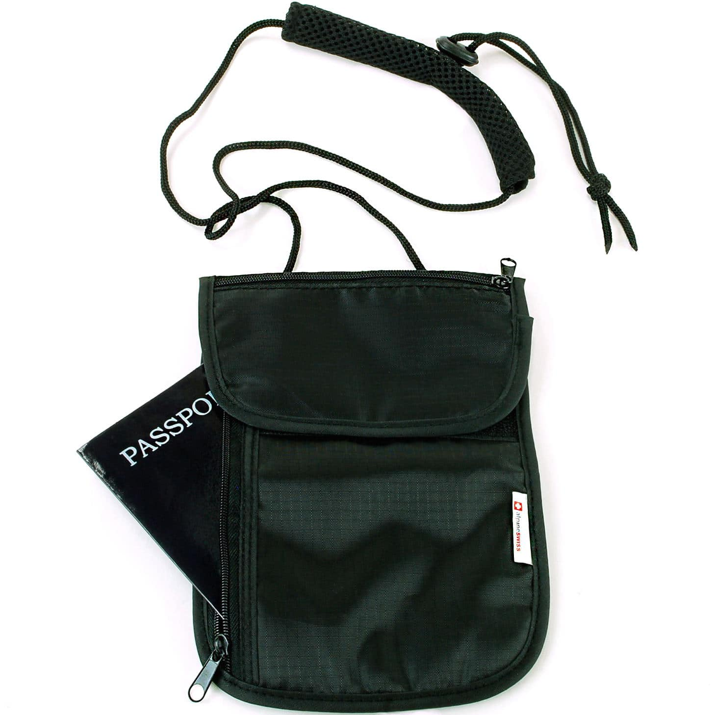 daa09f17d8 Alpine Swiss Travel Wallets Neck Pouch Under Clothing Security Stash $4.99