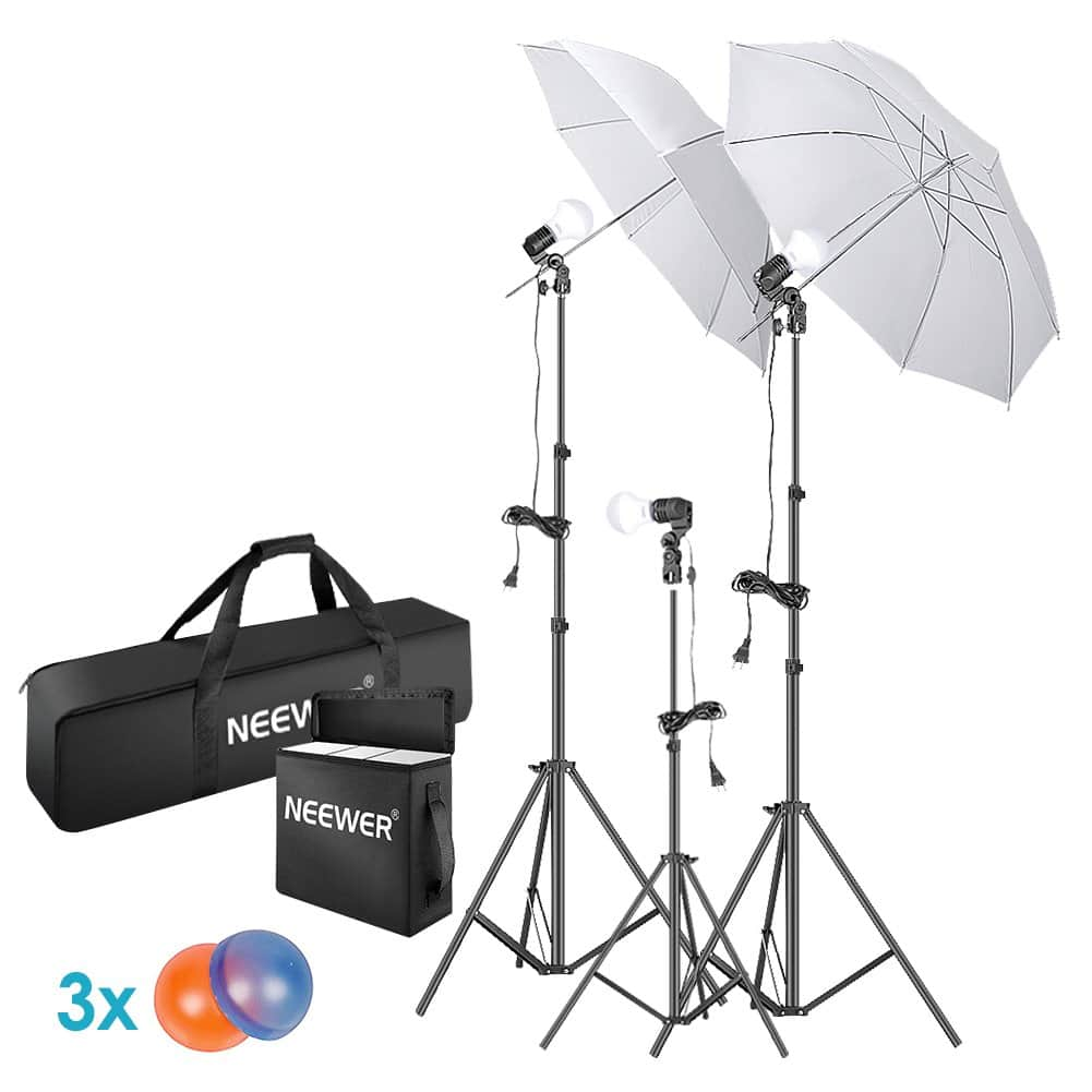 270d11dc6 Neewer 5500K LED Photo Continuous Lighting Umbrellas Kit w/ Gel Filters -  $31.99 + Free Shipping - Slickdeals.net