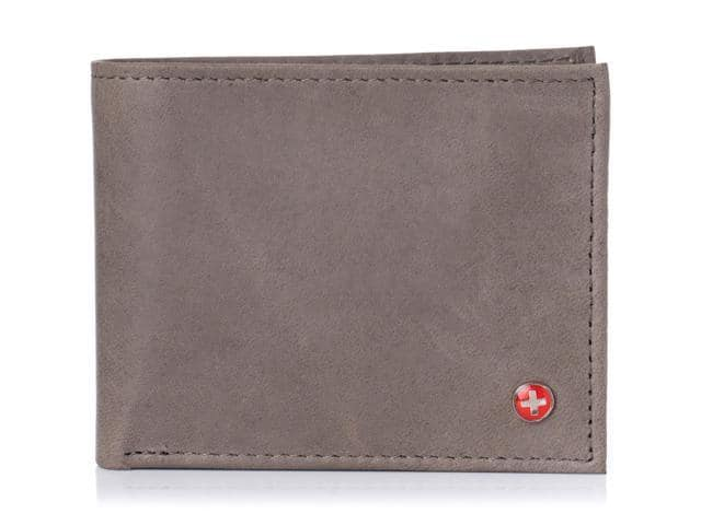 Alpine Swiss Mens Leather Wallet Multi Card Flip ID High Capacity Compact Bifold $7.99  + Free Shipping