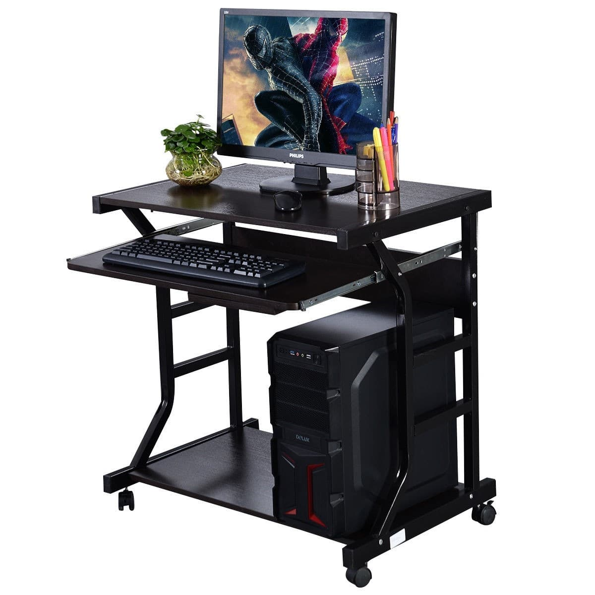 Costway Home Office Workstation Rolling Computer Desk - $61.95 + Free Shipping