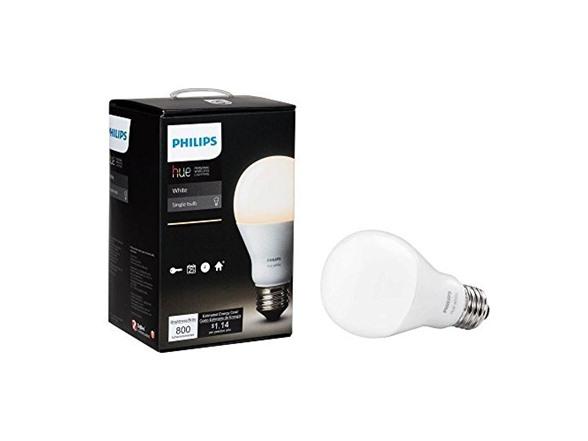 Philips Hue White A19 Single LED Bulb Works with Amazon Alexa - $9.59