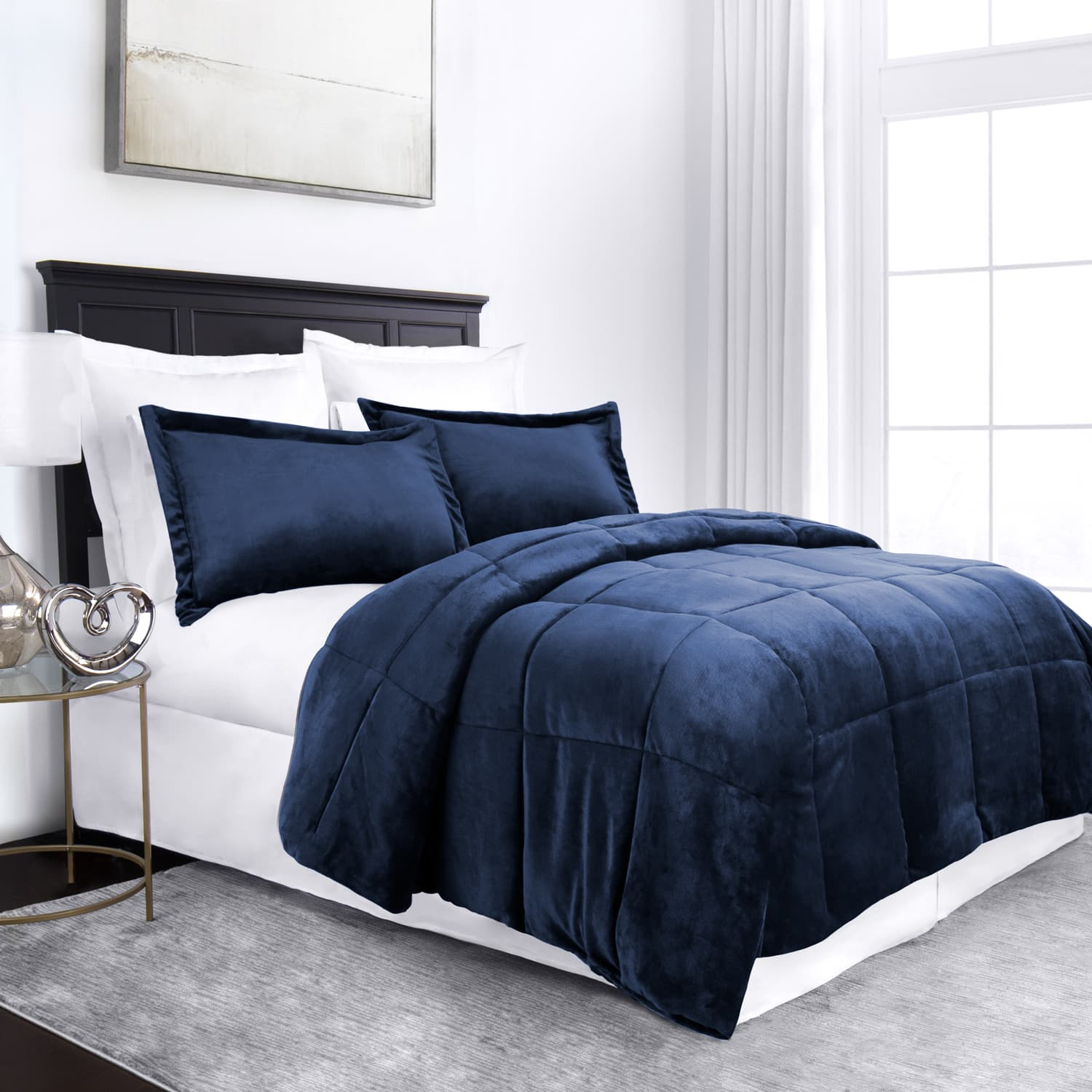 Linens and Hutch 3-Piece Micromink Goose Down Alternative Comforter Starting at $37.44