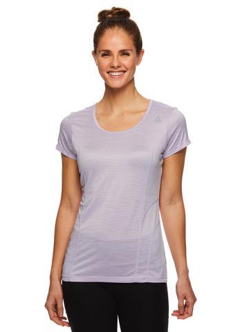 Reebok Women's Fitted Performance Spacedye Mini Burnout Stripe T-Shirt for $9.99 w/ FS