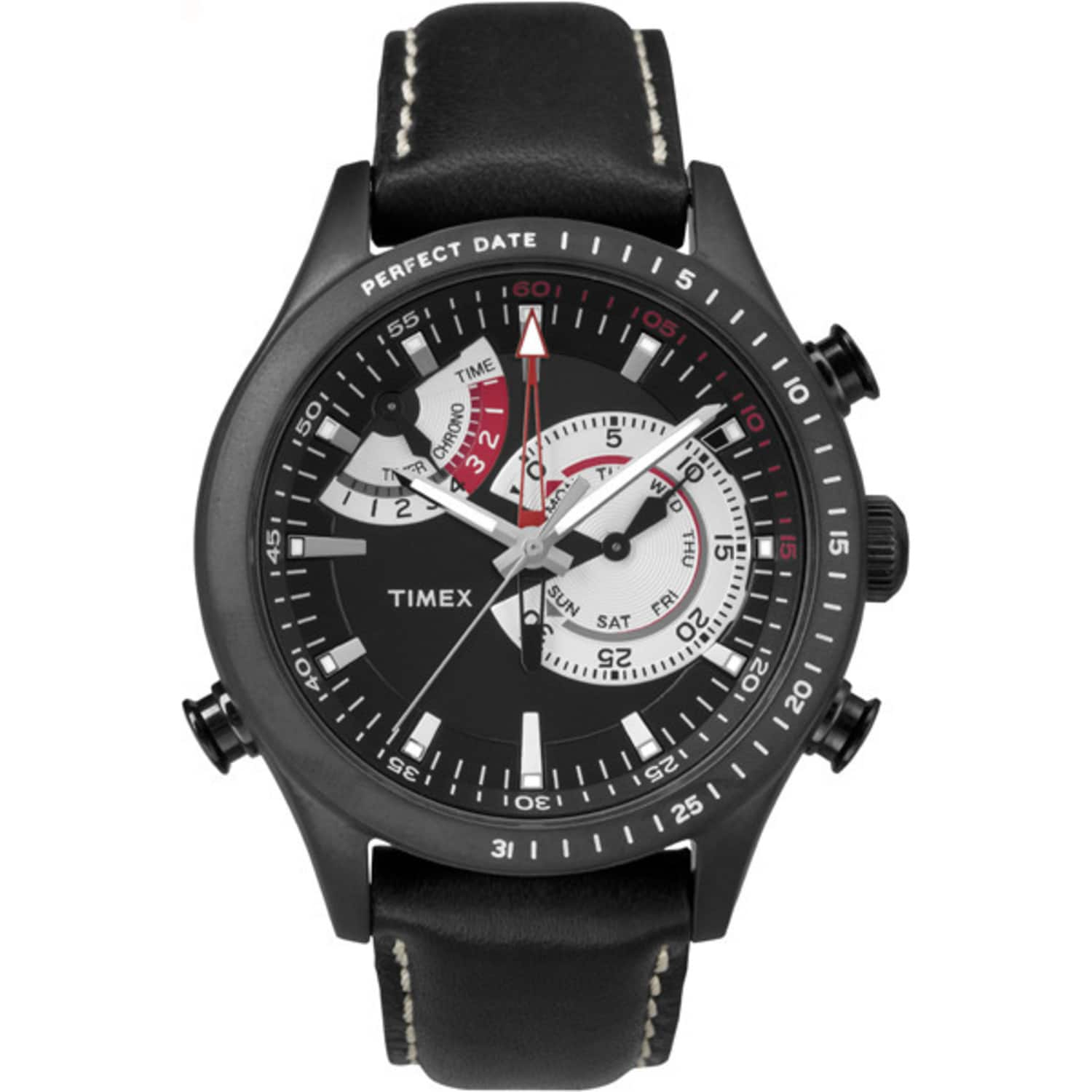 Timex Men Intelligent Quartz Chonograph Timer Perfect Date Black Watch TW2P72600:  $54.39 AC+ FS