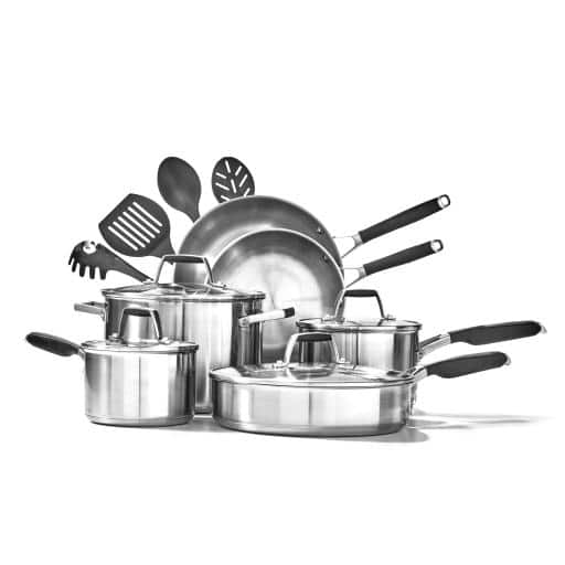 Calphalon Select Stainless Steel Deluxe Cookware 14 Piece Set - $152.99