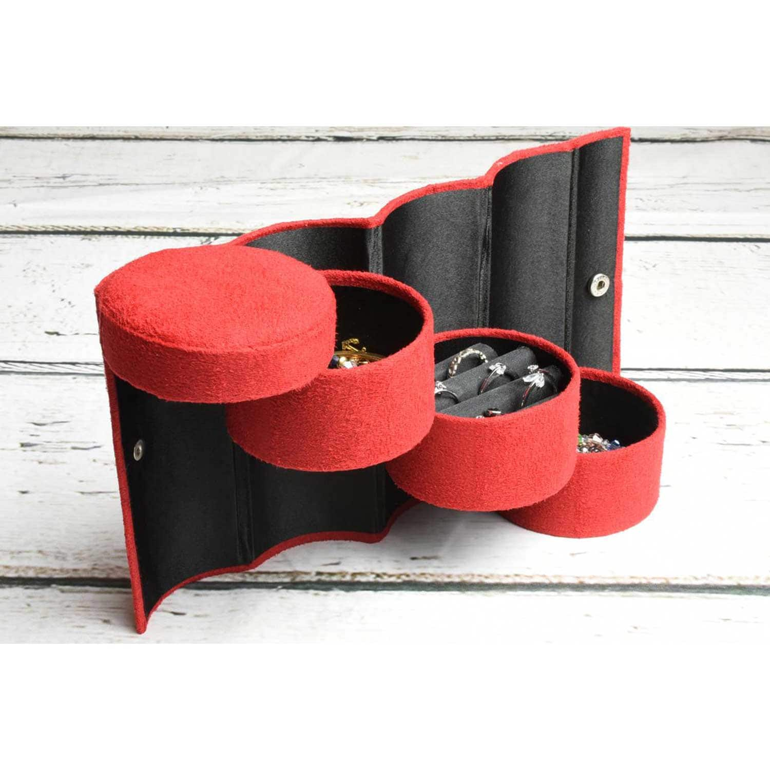 Portable Flannel Jewelry Organizer - $5.94 + Free Shipping