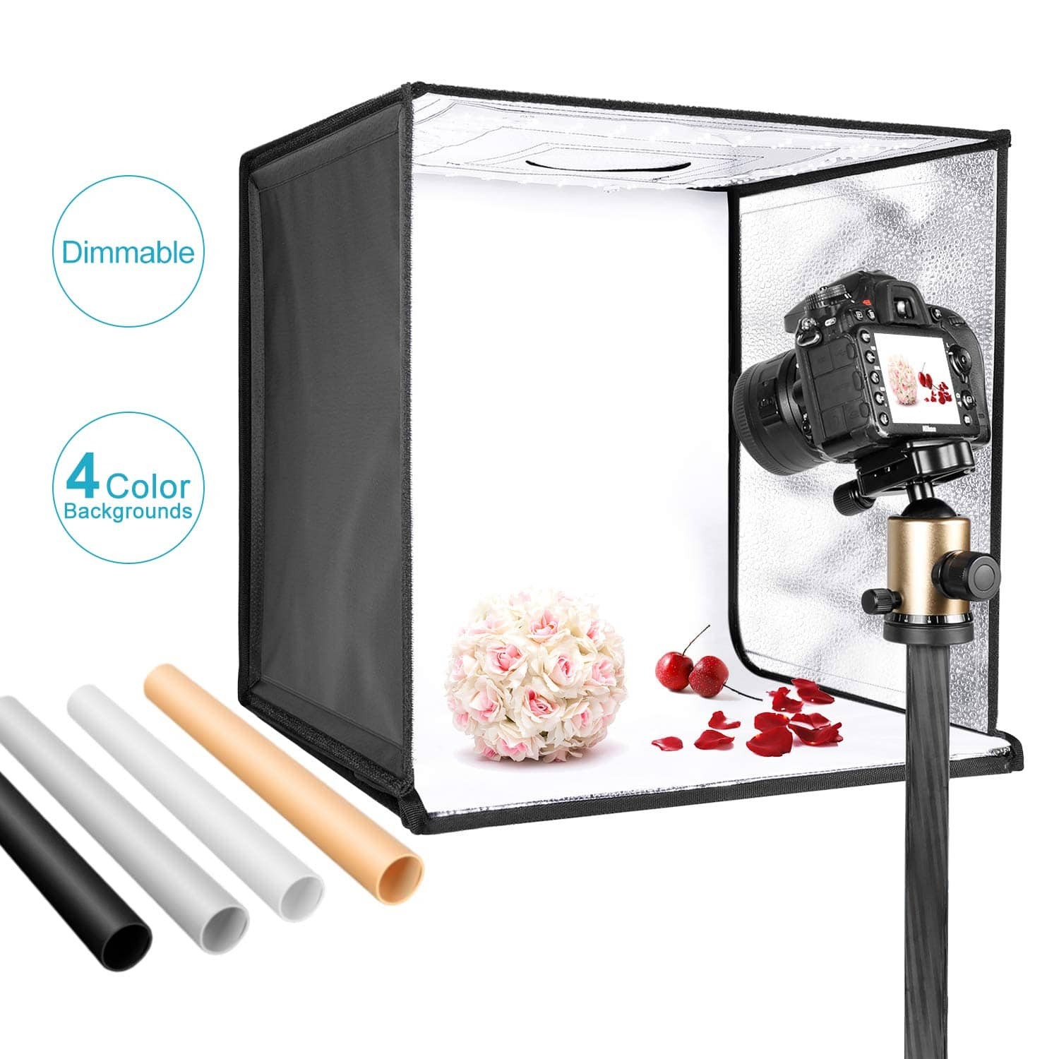 """Neewer 120 LED Photo Light Box 20""""/50cm (Backdrops included) - $45.49 + Free Shipping"""