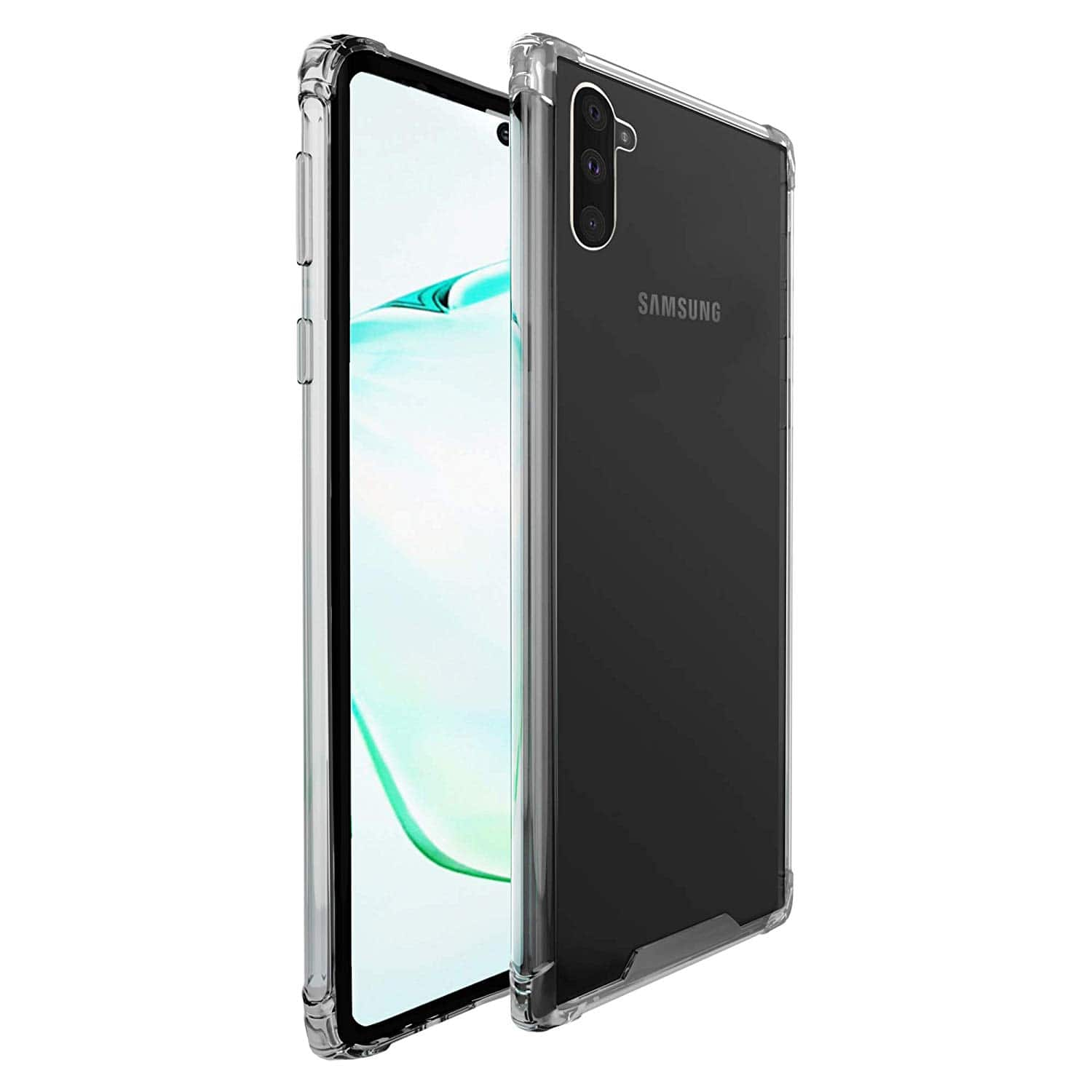 amCase Clear TPU Hybrid Protection Phone Case for Samsung Galaxy Note 10 and 10 Plus for $3.99