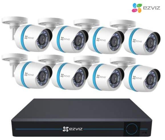 EZVIZ 16 Channel NVR, 8x 2MP HD 1080p PoE Camera, 3TB HDD at $199.99