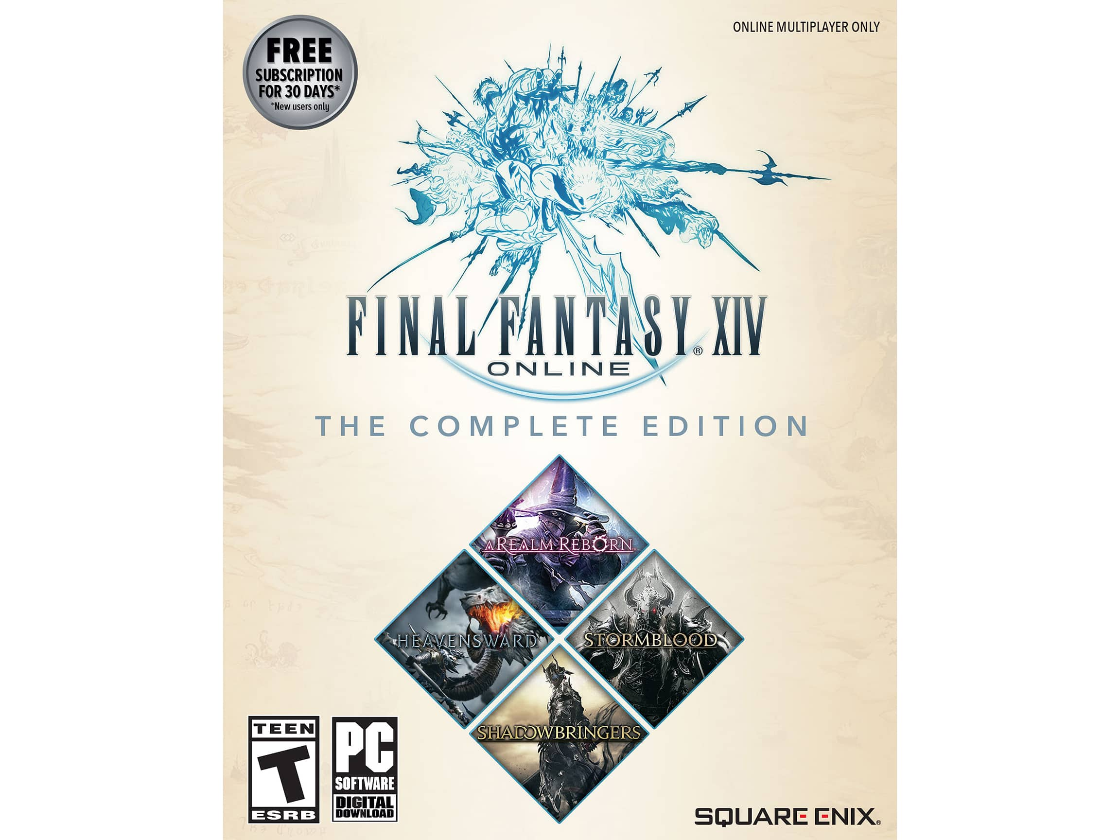 Final Fantasy XIV Complete Edition (2019 w/ Shadowbringers, PC or Mac Download) $44.99