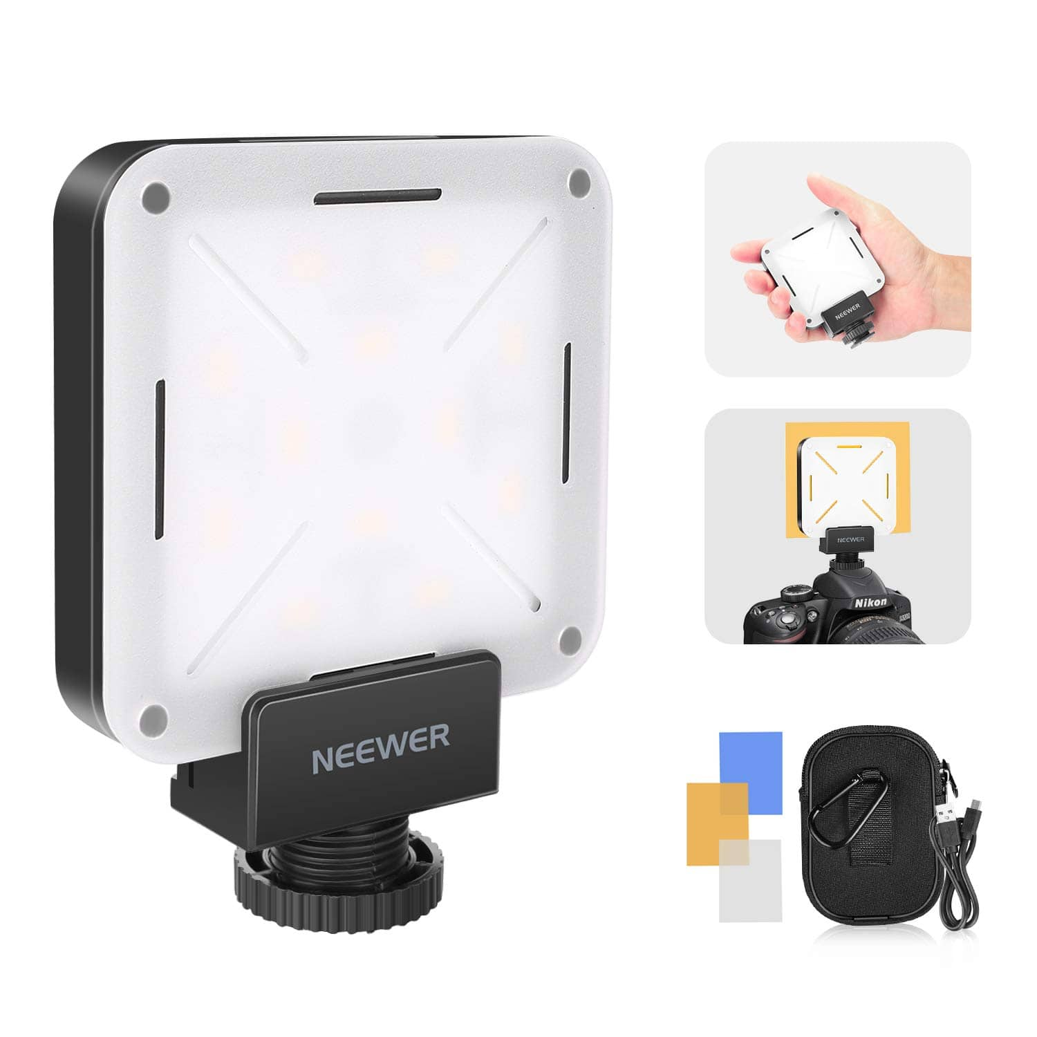 Neewer Pocket On-Camera Video Light (12 LED, USB Charging) - $18.89 + Free Shipping