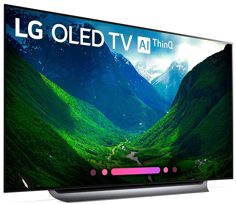 LG Electronics OLED77C8PUA 77-Inch 4K Ultra HD Smart OLED TV (2018 Model) : $3649 AC + FS