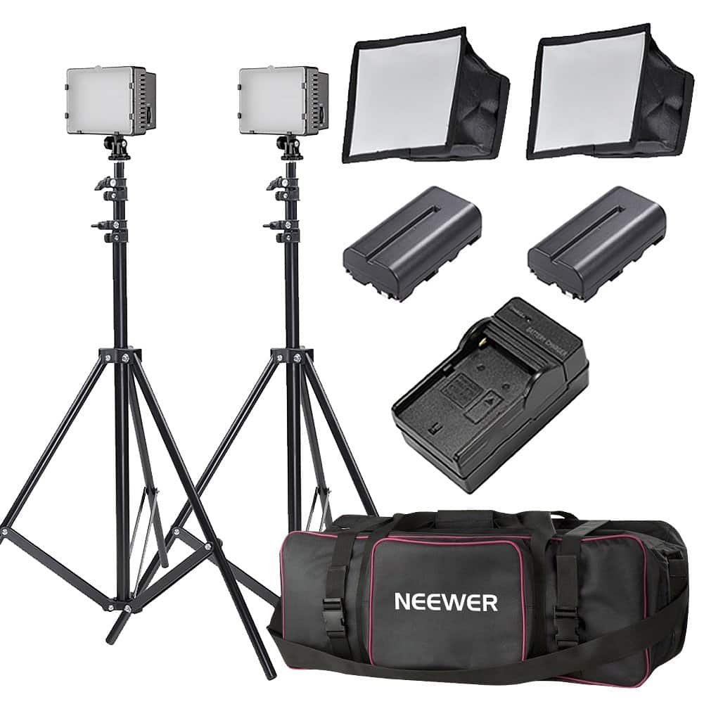 Neewer 2x160 LED Dimmable Ultra High Power Panel Lighting Kit - $67.19 + Free Shipping