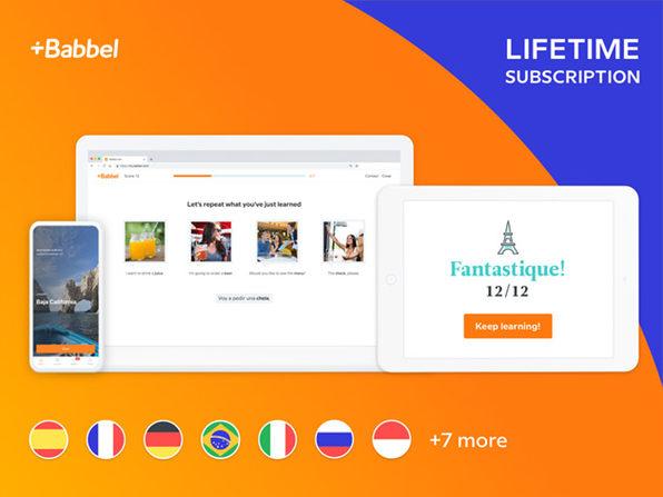 Babbel Language Learning: Lifetime Subscription $119.20