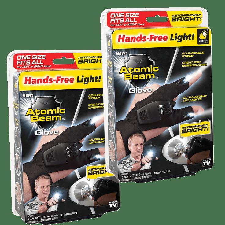 2-Pack ASOTV Atomic Beam Gloves with LED Lights - $10 + FS