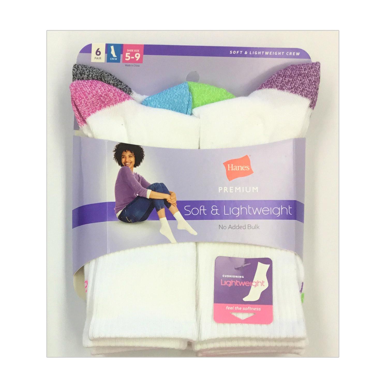 12 Pack Hanes Premium Soft Lightweight Ladies Socks - $14.44 + Free Shipping