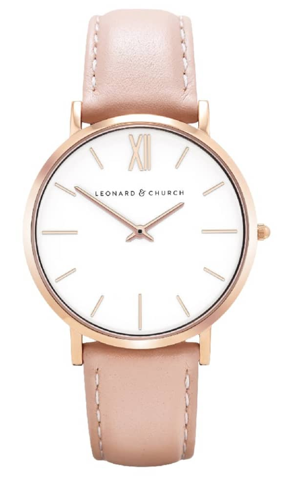 Leonard and Church: Women's Classic Timepiece set with Sapphire Crystal Lens for $78.98 + Free Shipping