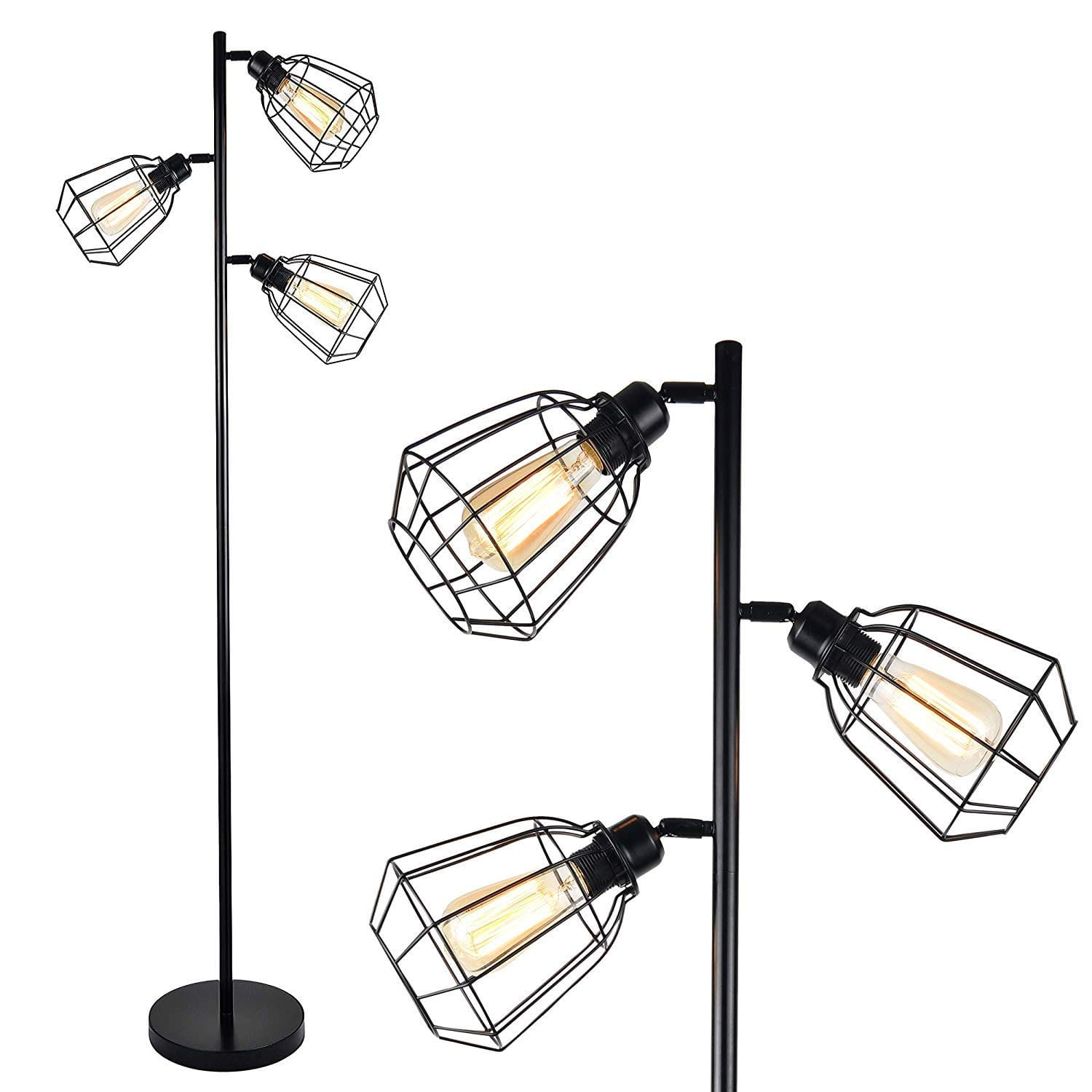 Leonlite Floor Lamp 3 Heads Track Tree/Vintage $54.39